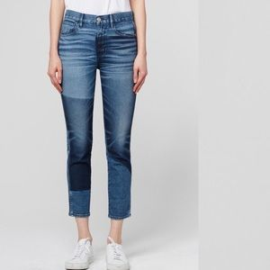 • 3x1 • W3 Straight Authentic Crop Jeans Shadow